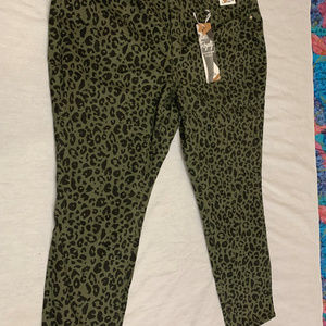 ROYALTY FOR ME ANIMAL PRINT MID RISE SKINNY 22W